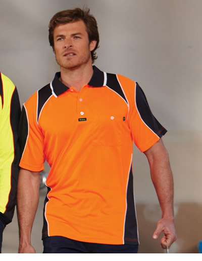 V1001 Commando Microfibre Polo Short Sleeve