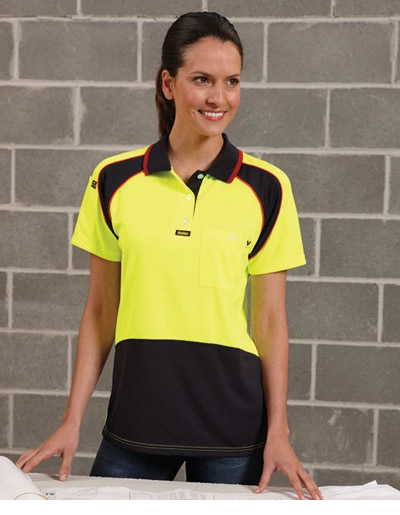 V1003 Energy Microfibre Polo - Womens Short Sleeve