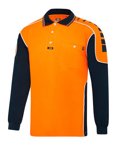 V2000 Chief Microfibre Polo Long Sleeve
