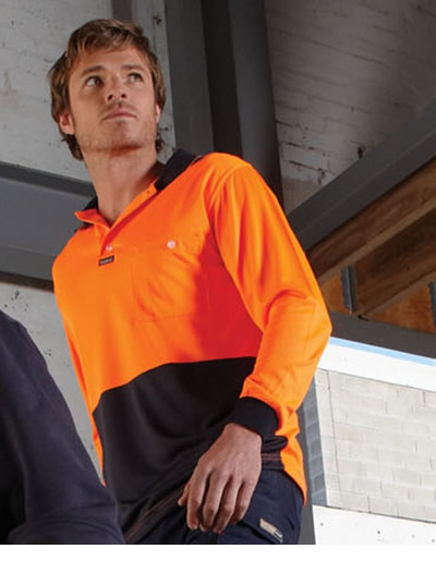 VPAL Basic Airwear Polo -  Long Sleeve